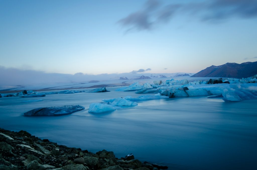 View of Jokulsarlon in Iceland