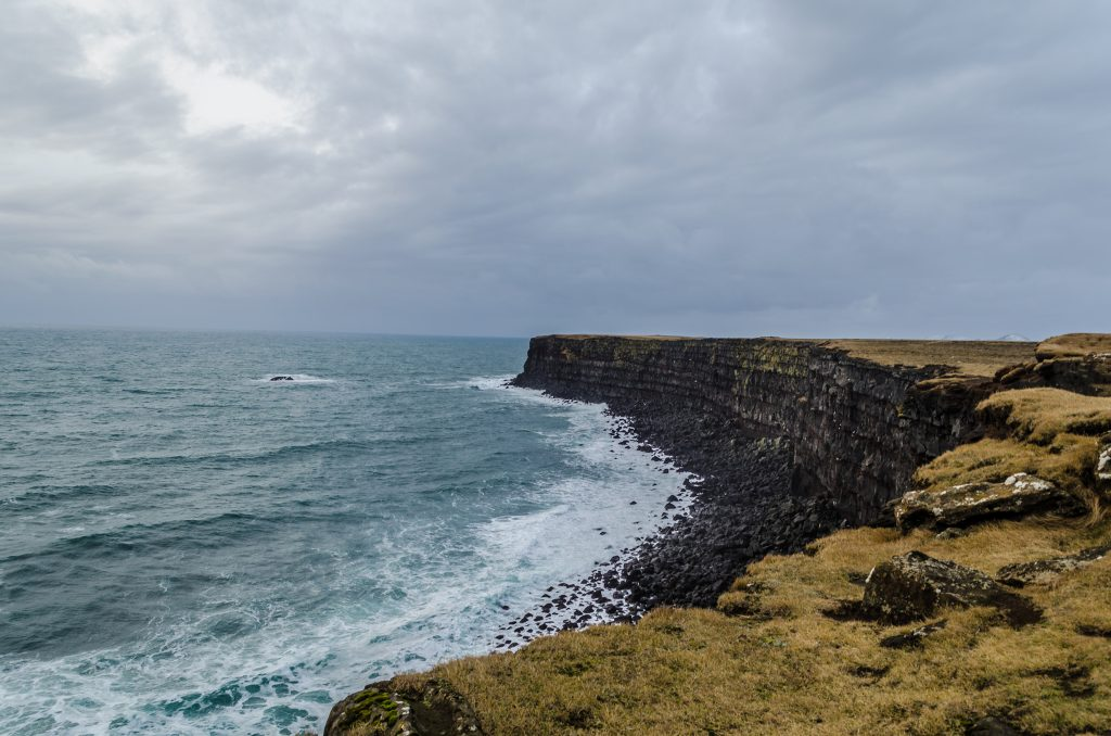 Falaise en Islande