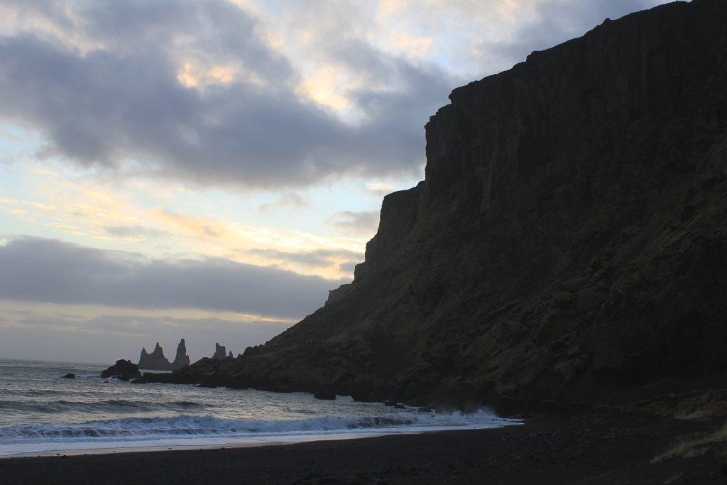 Islande Vik plage de sable noir