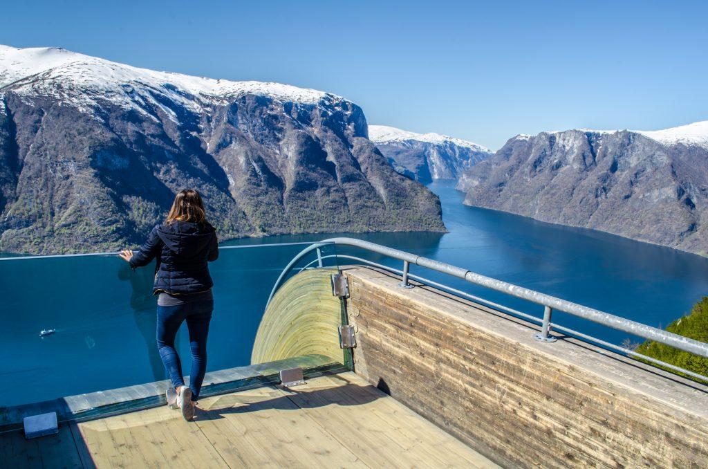 Stegastein vue sur les fjords de Norvège