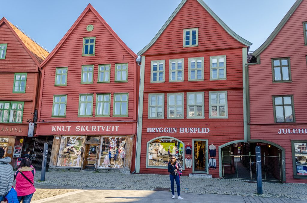 Quai Bryggen maison bois Bergen Norvège