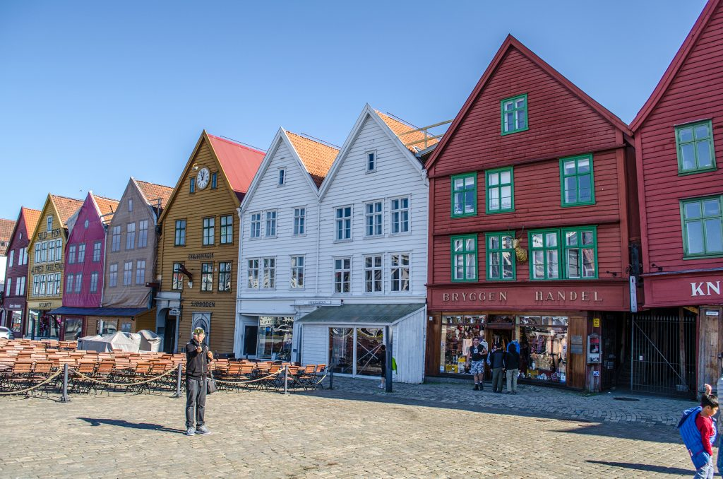 Bryggen quartier de Bergen en Norvège