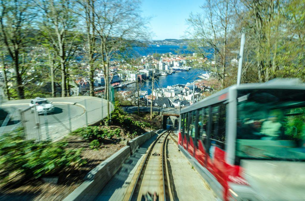 Funiculaire de Bergen en Norvège