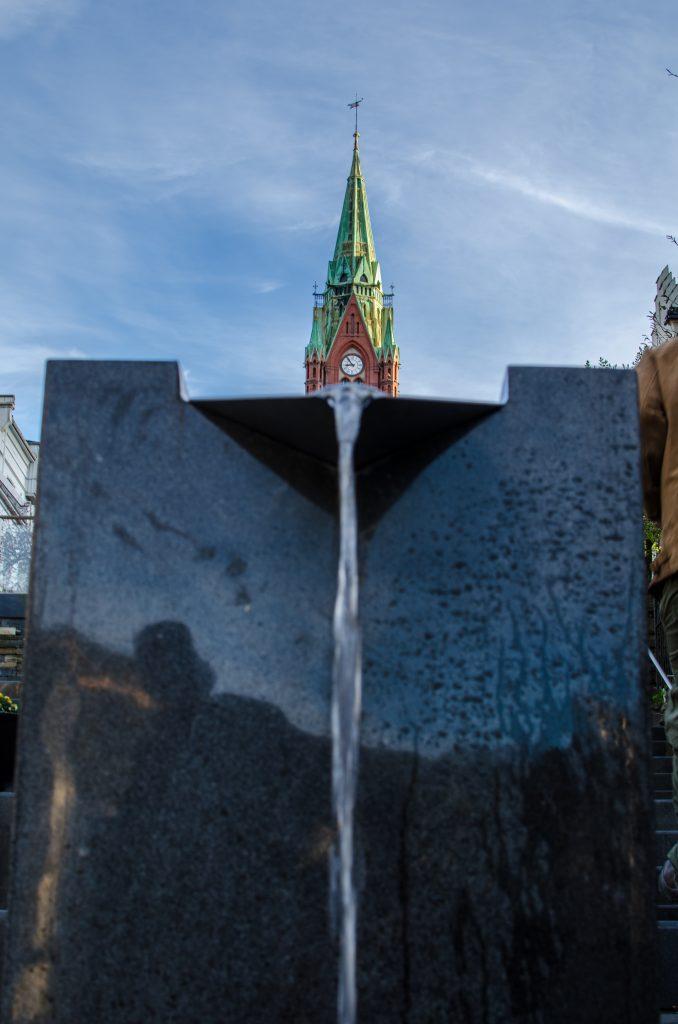 Bergen en Norvège, fontaine
