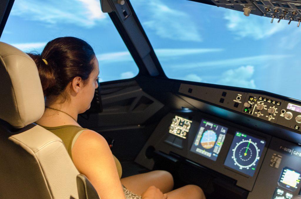 Laetitia au commande de l'Airbus A320