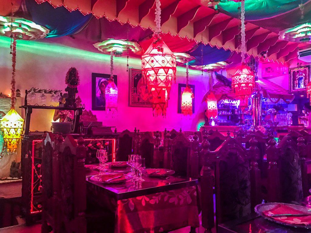 Restaurant Indian Lounge, décoration intérieur