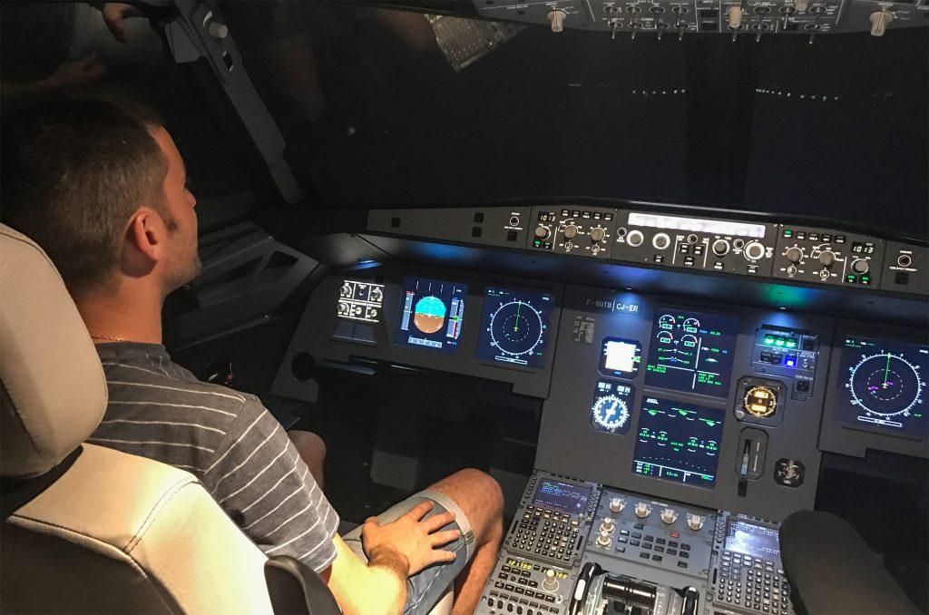 Airbus A320 de nuit
