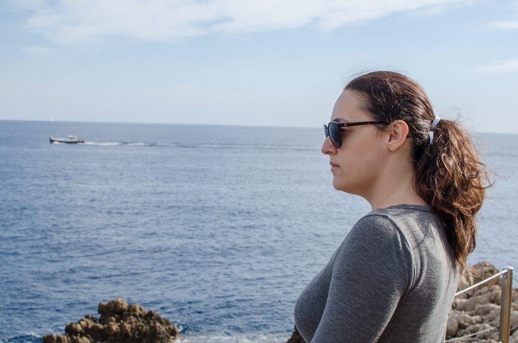 Vue sur la méditerrannée depuis le Cap d'Antibes