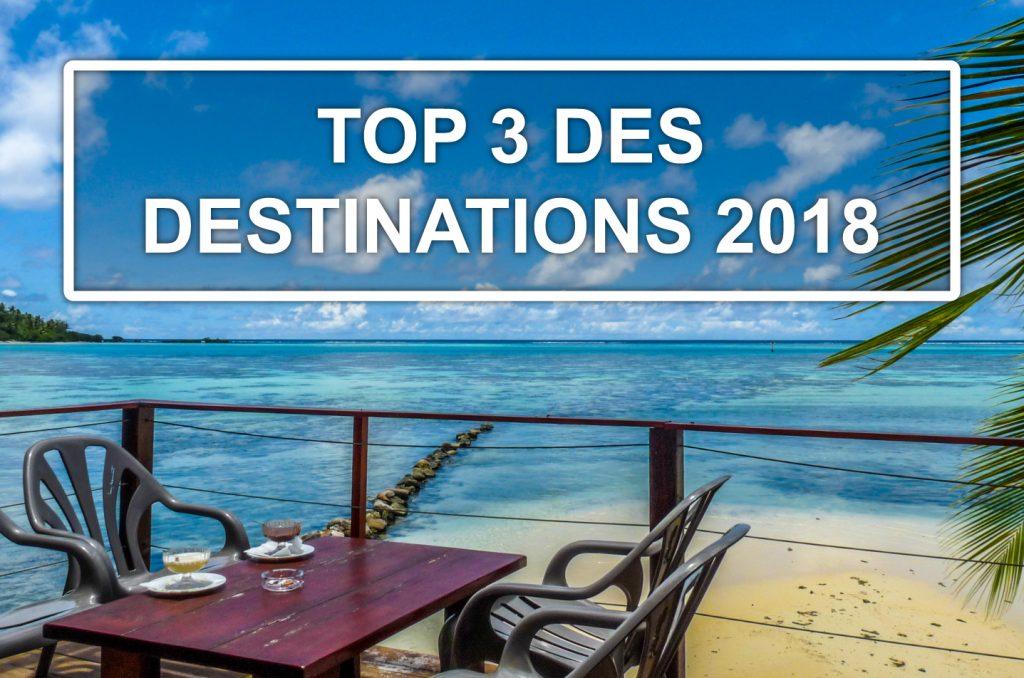 Top 3 des pays a visiter en 2018