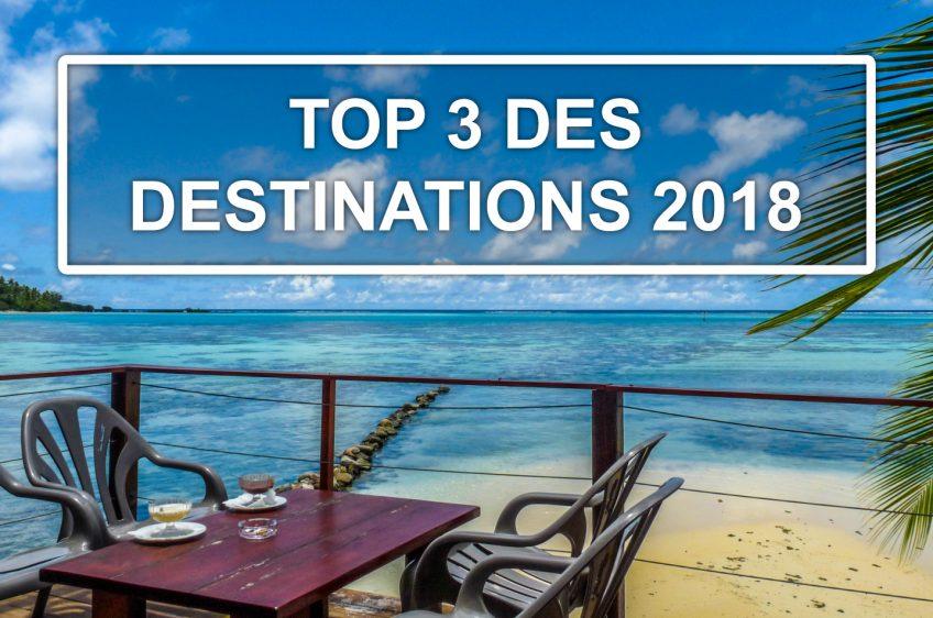 Le top 3 des pays à visiter en 2018