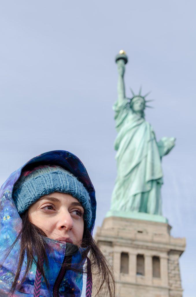 Laetitia et la statue de la liberté