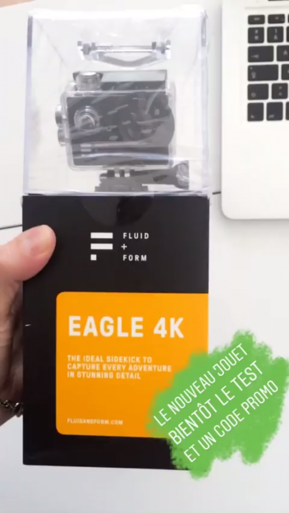 Story Instagram unboxing camera Eagle 4k