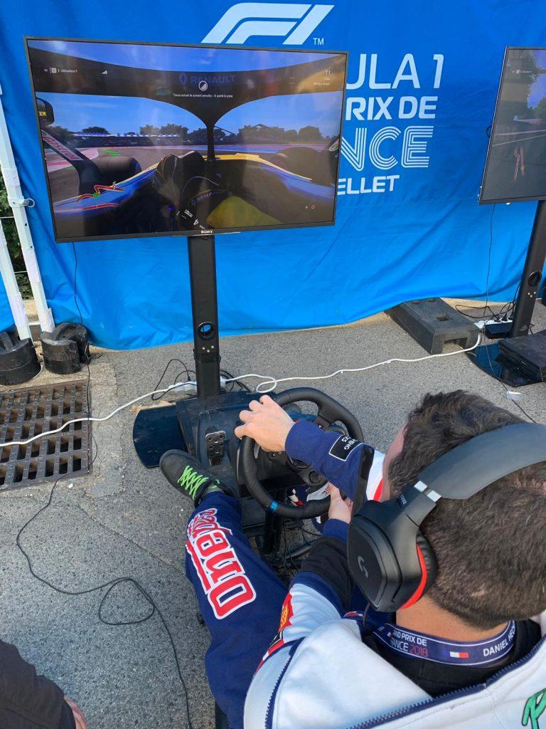 Simulateur F1 sur le circuit du Grand Prix de France 2019