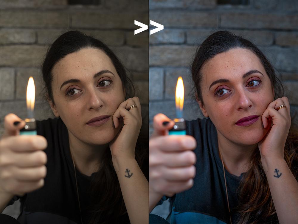 Résultat du preset lightroom mobile
