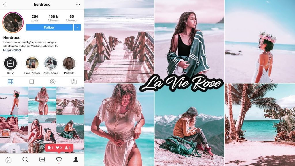 La vie Rose lightroom CC 2020